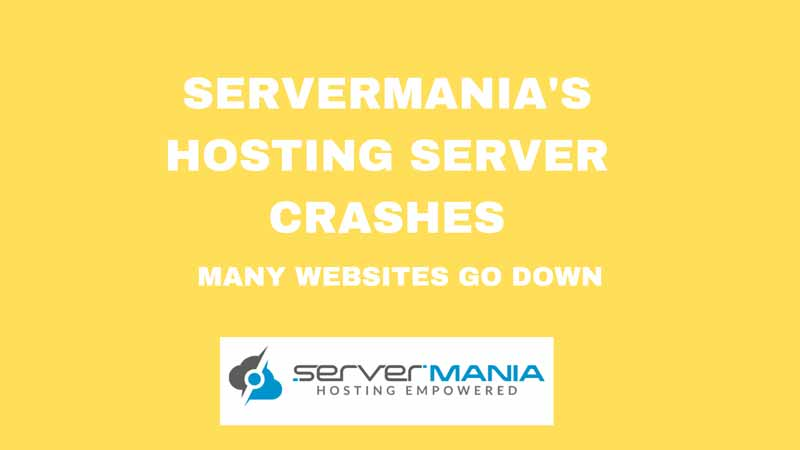 SERVERMANIA SERVER CRASHES LEAVING MANY WEBSITES DOWN