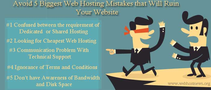 avoid 5 web hosting mistakes