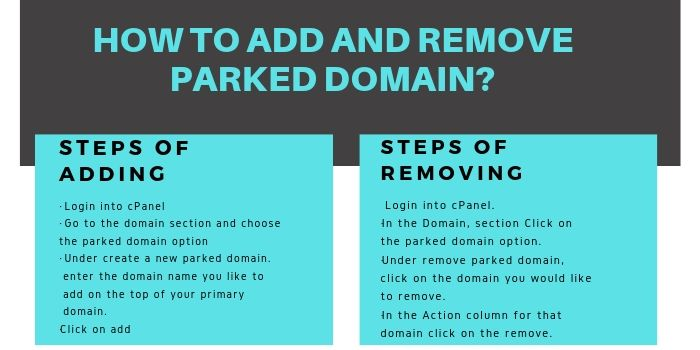 Add and Remove parked domain