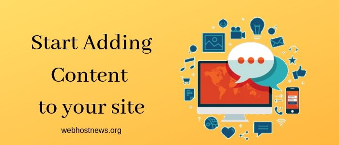 Start Adding Content to your site