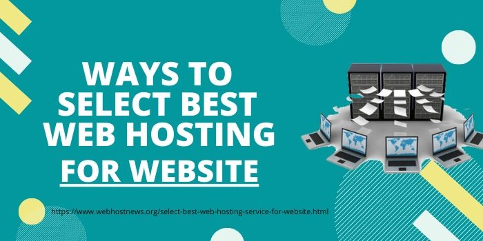 select best web hosting for your website